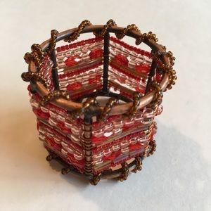 Set of 4 beaded napkin holders